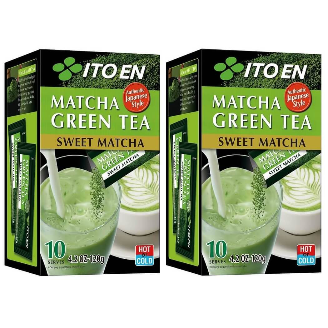 2 Boxes of Itoen Matcha Green Tea Sweet Matcha (10 Powder Sticks)-Itoen
