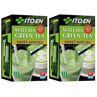 2 Boxes of Itoen Matcha Green Tea Sweet Matcha (10 Powder Sticks)-Buy at New Green Nutrition