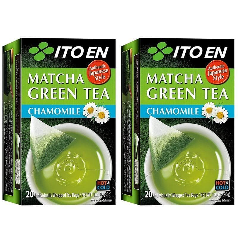 2 Boxes of Ito En Matcha Chamomile Green Tea (20 Teabags)-Buy at New Green Nutrition