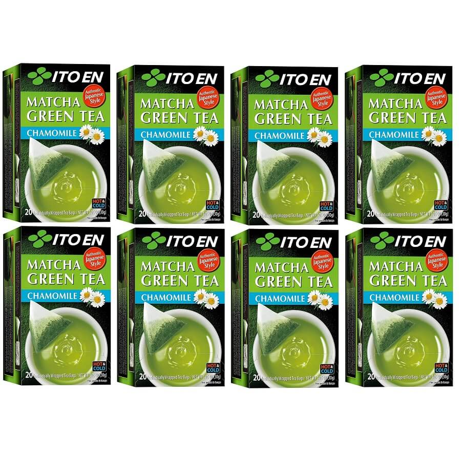 8 Boxes of Ito En Matcha Chamomile Green Tea (20 Teabags)-Buy at New Green Nutrition