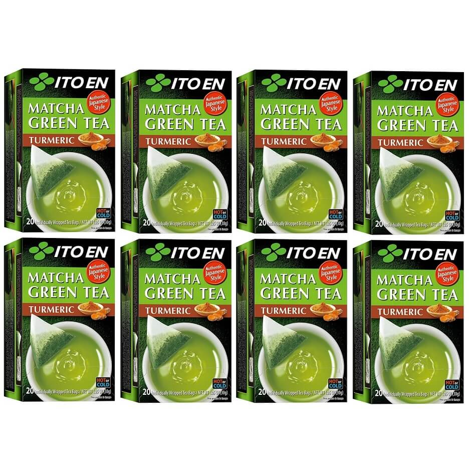 8 Boxes of Ito En Matcha Turmeric Green Tea (20 Teabags)-Buy at New Green Nutrition