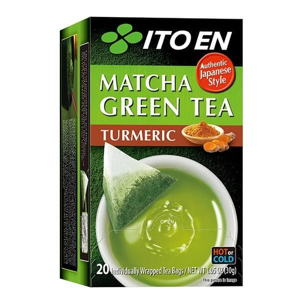 2 Boxes of Ito En Matcha Turmeric Green Tea (20 Teabags)-Buy at New Green Nutrition