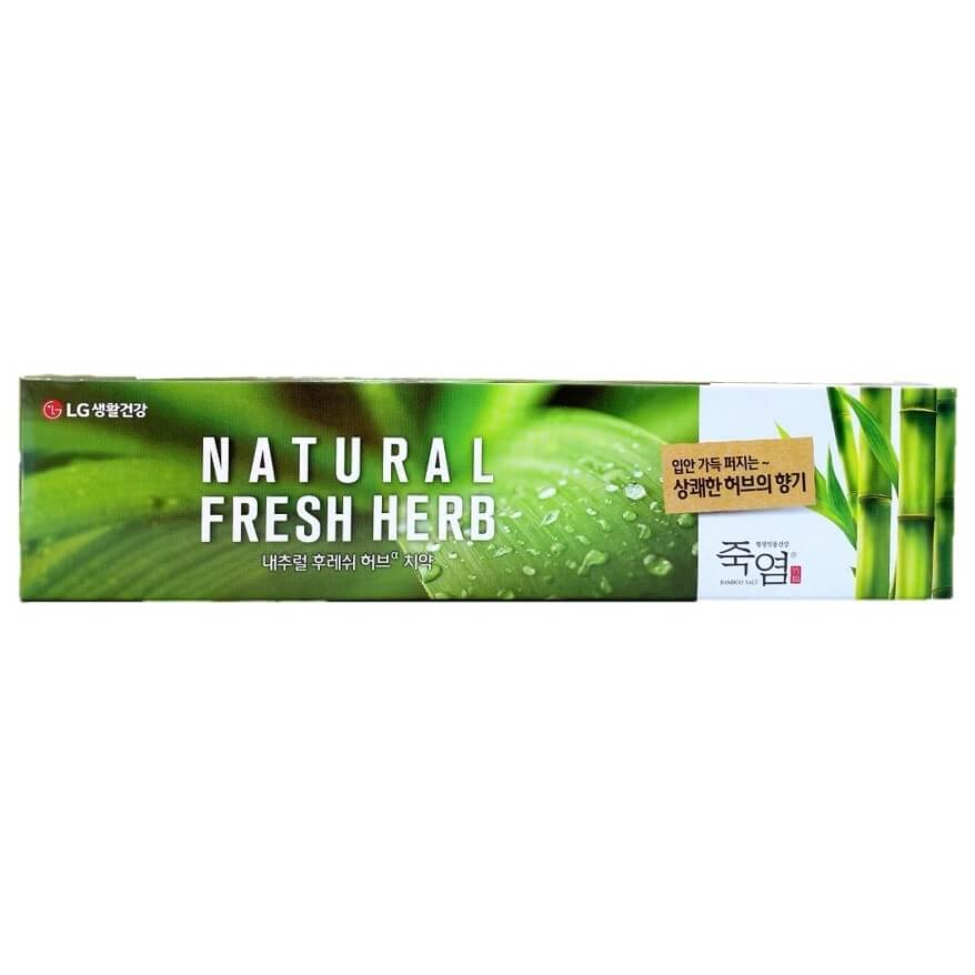 LG Natural Bamboo Salt Toothpaste Fresh Herb Scent (160g)-Buy at New Green Nutrition