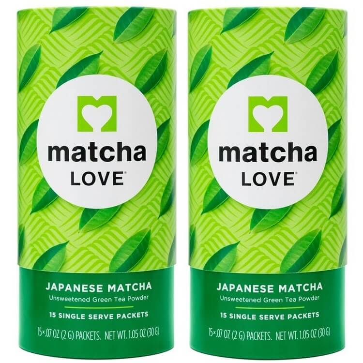 2 Boxes of Matcha Love Japanese Unsweetened Green Tea Matcha Powder (15 Packets)-Matcha Love