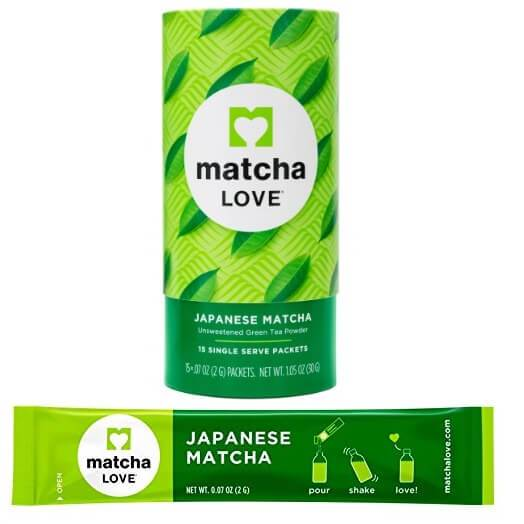 2 Boxes of Matcha Love Japanese Unsweetened Green Tea Matcha Powder (15 Packets)-Buy at New Green Nutrition