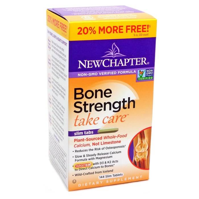 New Chapter Bone Strength Take Care (144 Slim Tablets)-Buy at New Green Nutrition