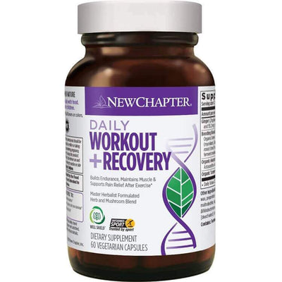 New Chapter Daily Workout + Recovery (60 Veggie Capsules)-New Chapter