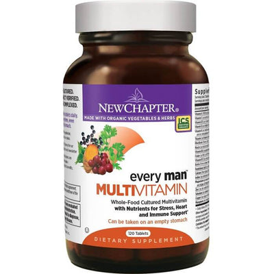 New Chapter Every Man Multivitamin (120 Veggie Tablets)-Buy at New Green Nutrition