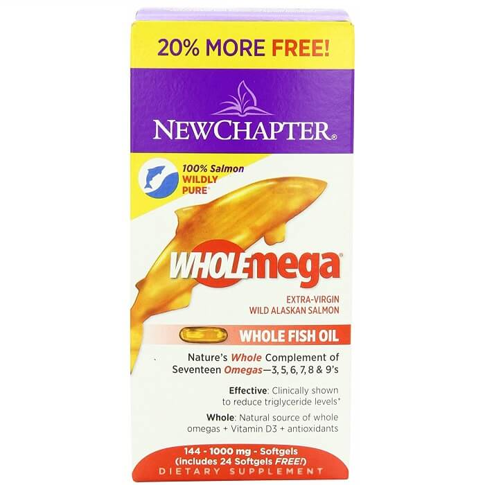 New Chapter Wholemega Wild Alaskan Salmon Oil (144 Softgels)-New Chapter