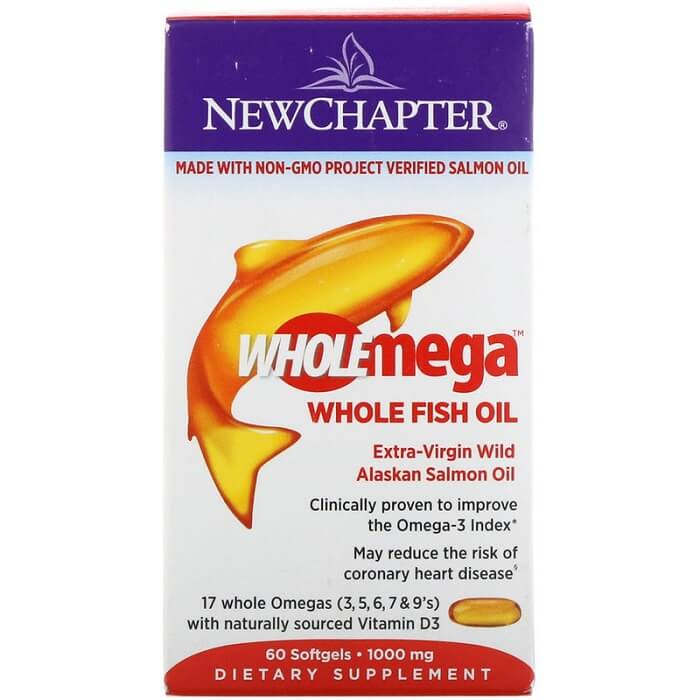 New Chapter Wholemega Wild Alaskan Salmon Oil (60 Softgels)-Buy at New Green Nutrition