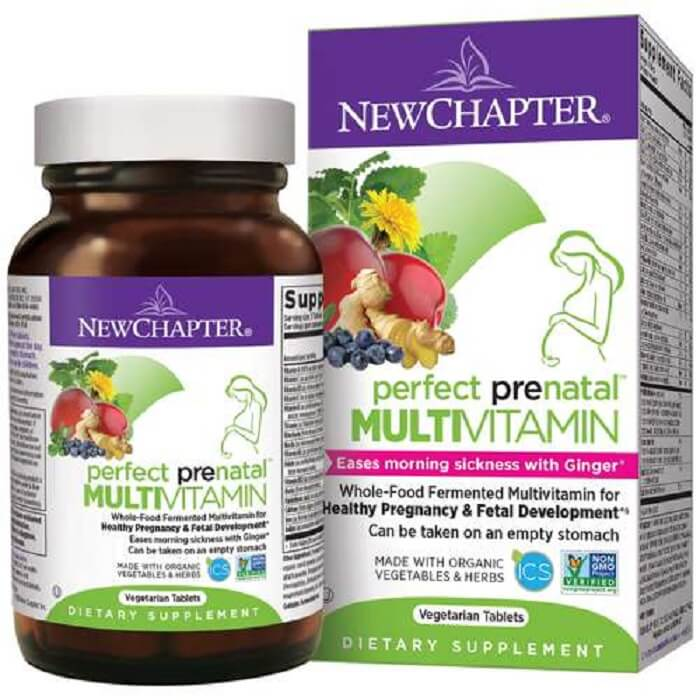New Chapter Perfect Prenatal Vitamins (48 Veggie Tablets)-New Chapter