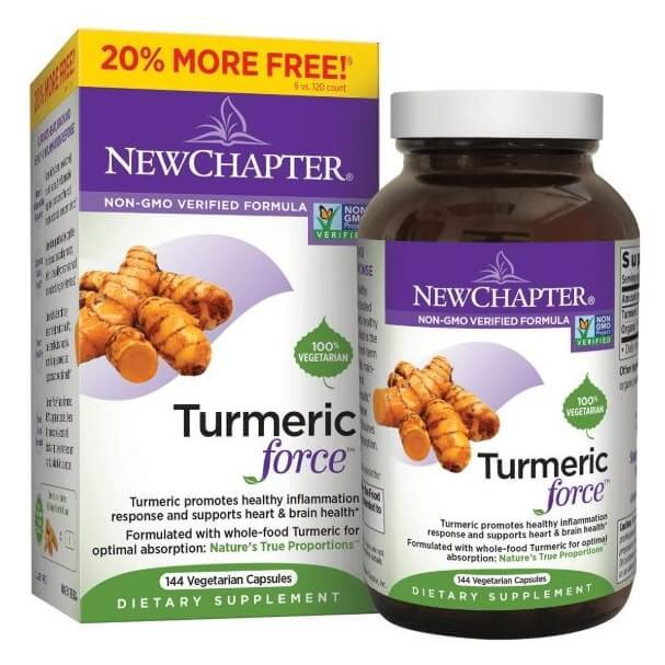 New Chapter Tumeric Force (144 Veggie Capsules)-Buy at New Green Nutrition