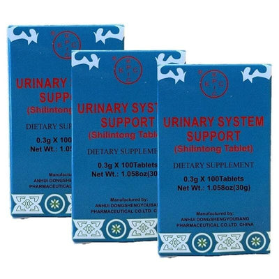 3 Boxes Shilintong, Herbal Supplement For Healthy Urinary Tract (100 Tablets)-Buy at New Green Nutrition