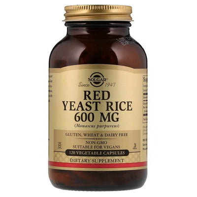 Solgar Red Yeast Rice 600 MG (120 Veggie Capsules)-Buy at New Green Nutrition
