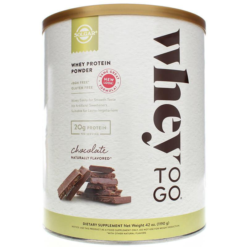 Solgar Whey To Go Whey Protein Powder Chocolate (42 oz)-Buy at New Green Nutrition