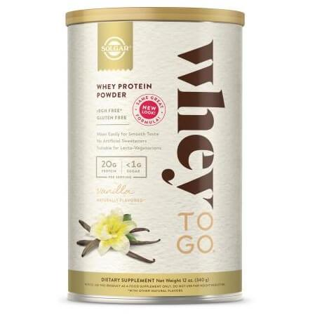 Solgar Whey To Go Whey Protein Powder Vanilla (12 oz)-Buy at New Green Nutrition
