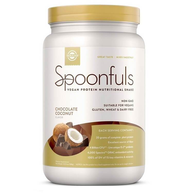 Solgar Spoonfuls Vegan Protein Chocolate Coconut (24.19 oz)-Buy at New Green Nutrition