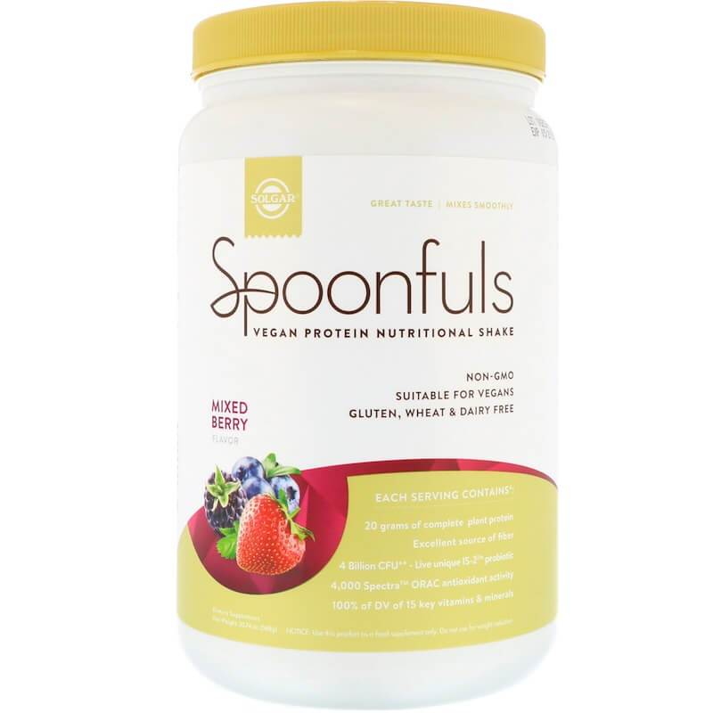 Solgar Spoonfuls Vegan Protein Mixed Berry (20.74 oz)-Buy at New Green Nutrition