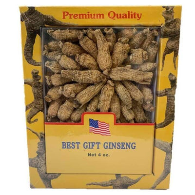4 Boxes of Premium American Ginseng Root Medium Short Size (4 oz box)-New Green Nutrition