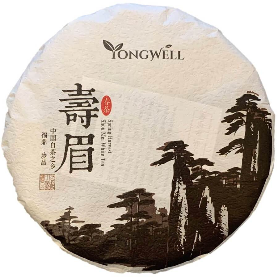 YongWell 2016 Premium Grade Shou Mei Spring Harvested White Tea Cake 350g (12.3oz)-Buy at New Green Nutrition