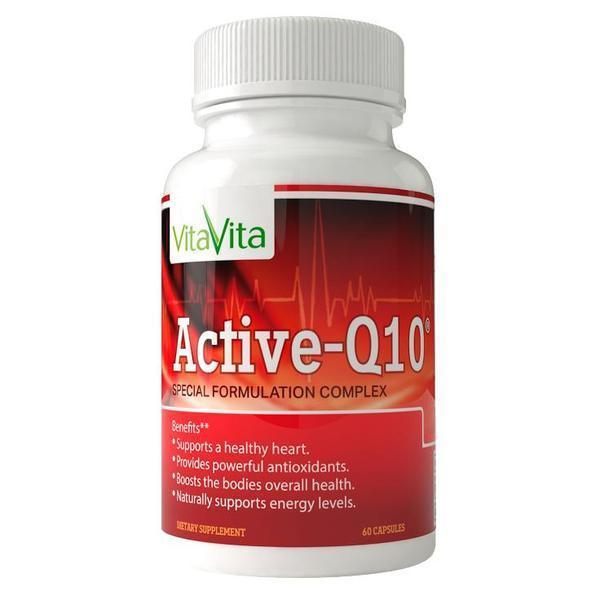 Active-Q10 with Korean Ginseng, Hawthorn Berry & Salvia Root (60 Capsules)-VitaVita