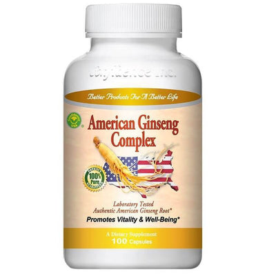 American Ginseng Complex (100 Capsules)-Confidence USA