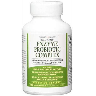 American Health Dual Action Enzyme Probiotic Complex (90 Veggie Capsules)-Buy at New Green Nutrition