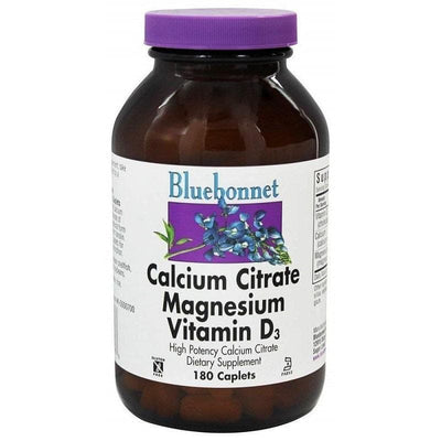 Bluebonnet Calcium Citrate Magnesium Plus Vitamin D3 (180 Caplets)-Buy at New Green Nutrition