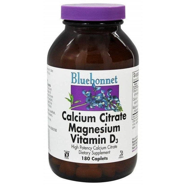 Bluebonnet Calcium Citrate Magnesium Plus Vitamin D3 (180 Caplets)-Bluebonnet Nutrition