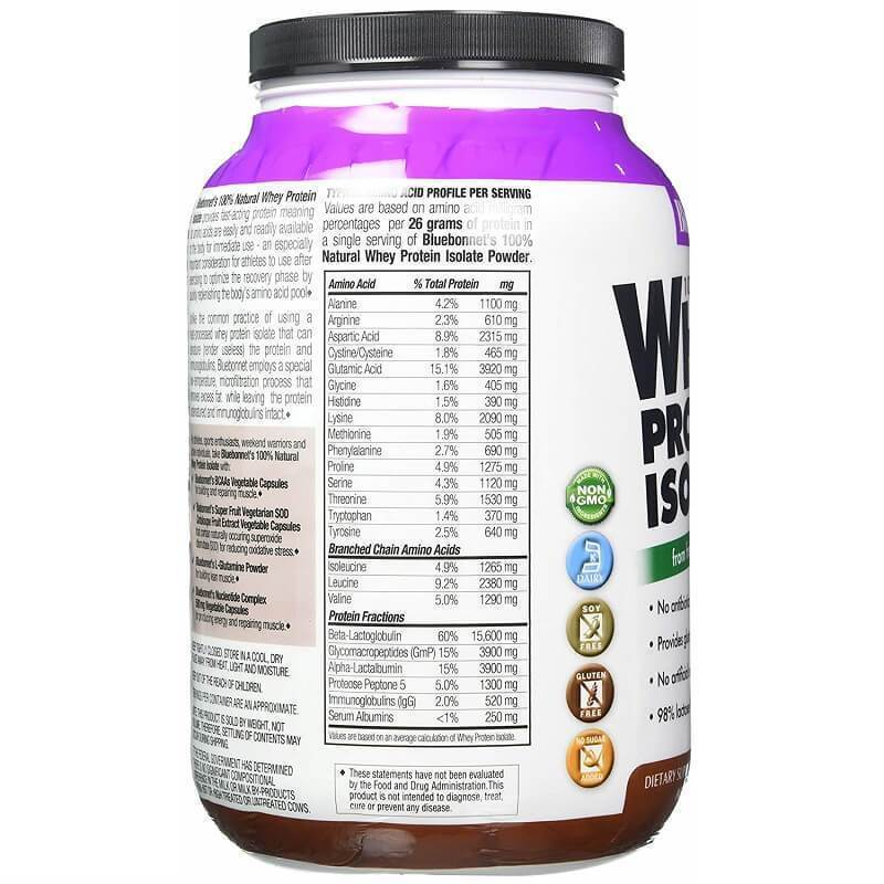 Bluebonnet Nutrition Whey Protein Isolate Chocolate Flavor (2 lbs)-Buy at New Green Nutrition