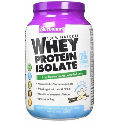 Bluebonnet Nutrition Whey Protein Isolate Natural French Vanilla (2 lbs)-Bluebonnet Nutrition