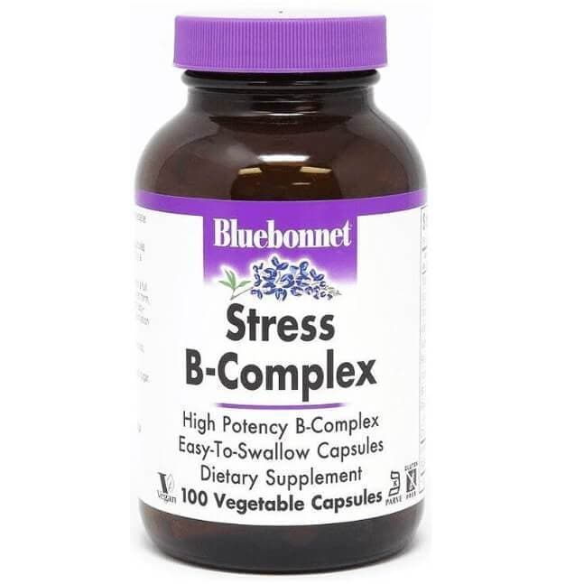 Bluebonnet Stress B-Complex (100 Veggie Capsules)-Buy at New Green Nutrition