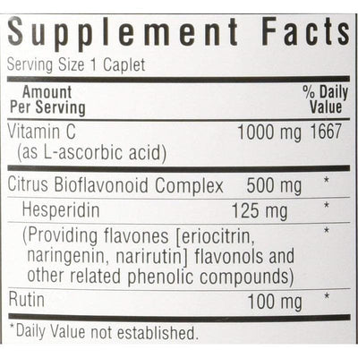 Bluebonnet Vitamin C 1000 mg Plus Bioflavonoids (180 Caplets)-Buy at New Green Nutrition