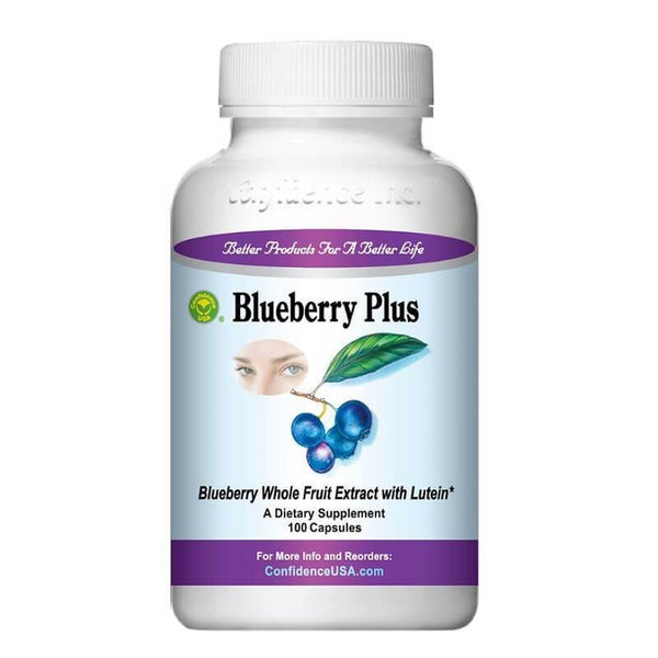 Confidence Blueberry Plus (100 Capsules)-Confidence USA