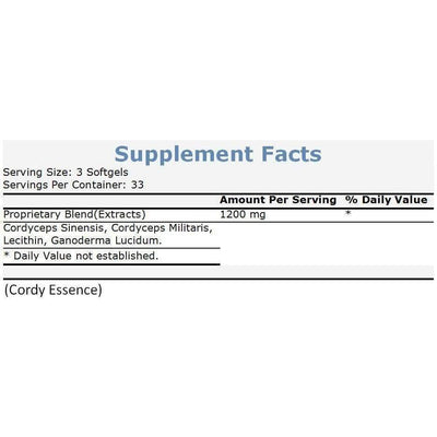 Cordy Essence (100 Softgels)-Buy at New Green Nutrition