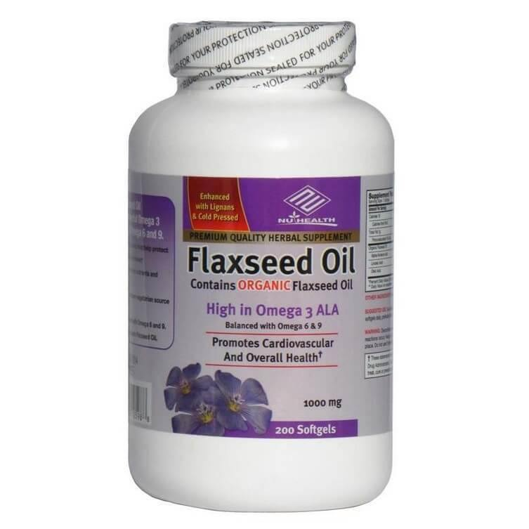 Flaxseed Oil (200 Softgels)-Buy at New Green Nutrition