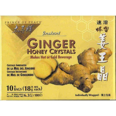 Ginger Honey Crystals (10 Instant Bags)-Buy at New Green Nutrition