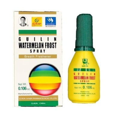 Guilin Watermelon Frost Spray, Helps Dry Throat & Breath Freshener 3g(3 Boxes)-guilin