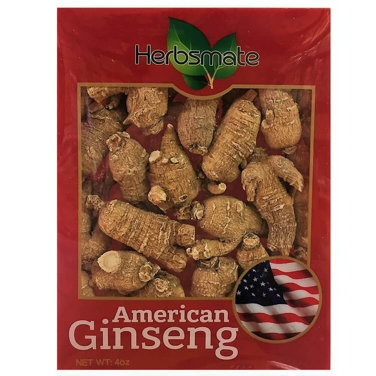 Hand Selected A Grade American Ginseng Root - Medium Round (4 Oz. Box)-New Green Nutrition