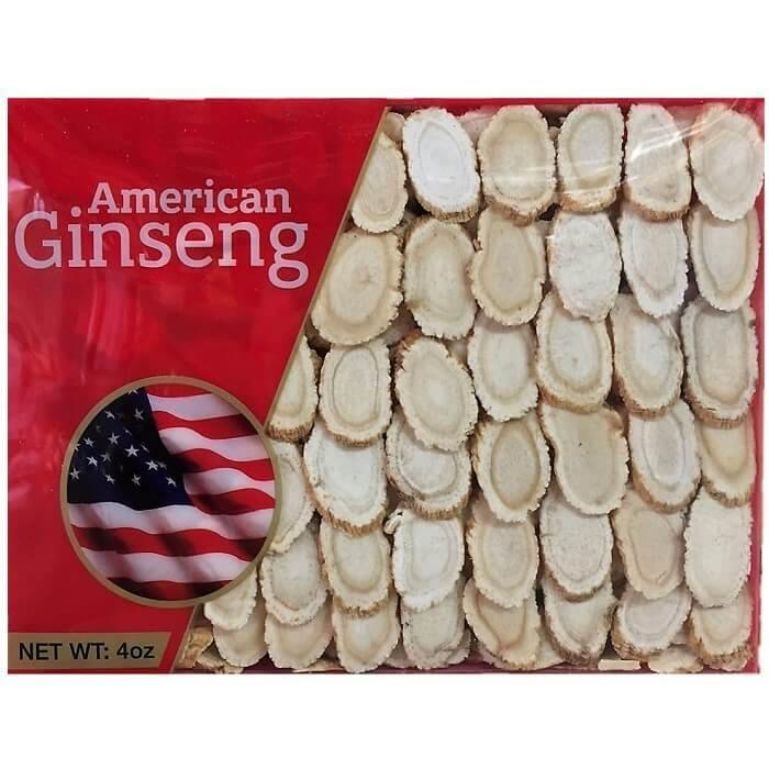 Hand Selected A Grade American Ginseng Slices Medium Size (4 Oz. Box)-New Green Nutrition