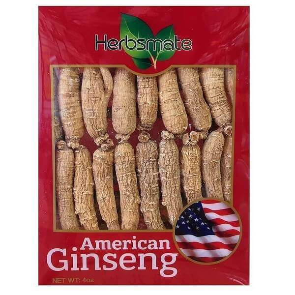 Hand Selected A Grade American Ginseng Root Small Thin-Short Size (4 Oz. Box)-New Green Nutrition