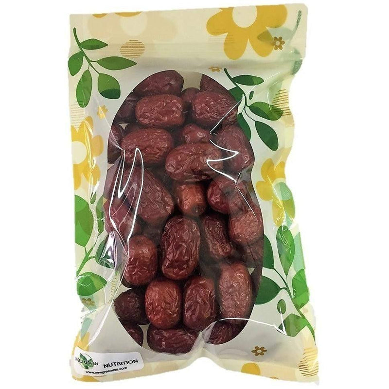 HerbsGreen Hand Selected Jujube Chinese Red Dates, Large Size-New Green Nutrition