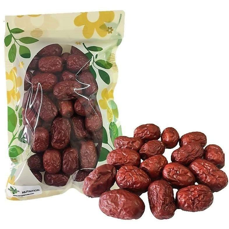 HerbsGreen Hand Selected Jujube Chinese Red Dates, Large Size-Buy at New Green Nutrition