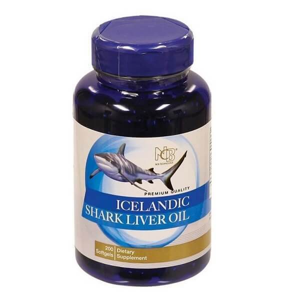 Icelandic Shark Liver Oil 500mg (200 Softgels)-Buy at New Green Nutrition