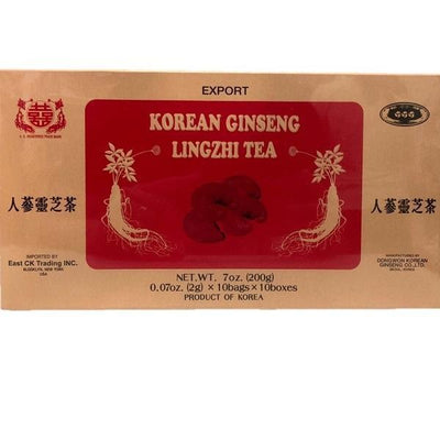 Korean Ginseng Lingzhi Tea (100 Instant Teabags)-Buy at New Green Nutrition