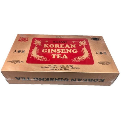 Korean Ginseng Tea (100 Instant Teabags)-Buy at New Green Nutrition