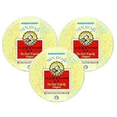 Nin Jiom Herbal Candy- 3 Tins (Original Flavor)-Buy at New Green Nutrition