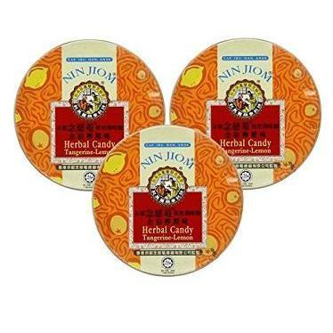 Nin Jiom Herbal Candy- 3 Tins (Tangerine-Lemon)-Buy at New Green Nutrition