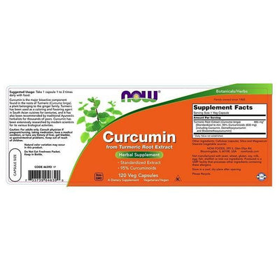 Now Foods Curcumin (120 Veg Capsules)-Buy at New Green Nutrition