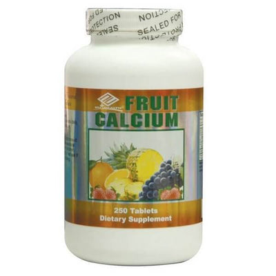 Nu-Health Fruit Calcium 600mg (250 Chewable Tablets)-Buy at New Green Nutrition